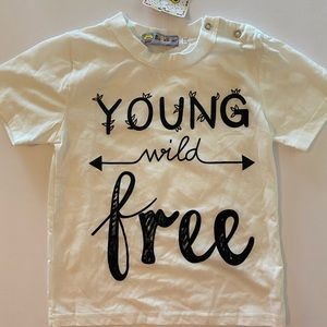 Young Wild and Free kids tee size 1